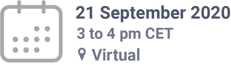 21 September 2020, 3pm CET