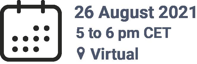 Seminar 26 August at 5pm CET